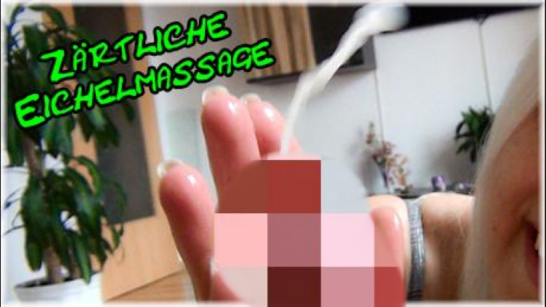 Jerk-off! Tender acorn massage!