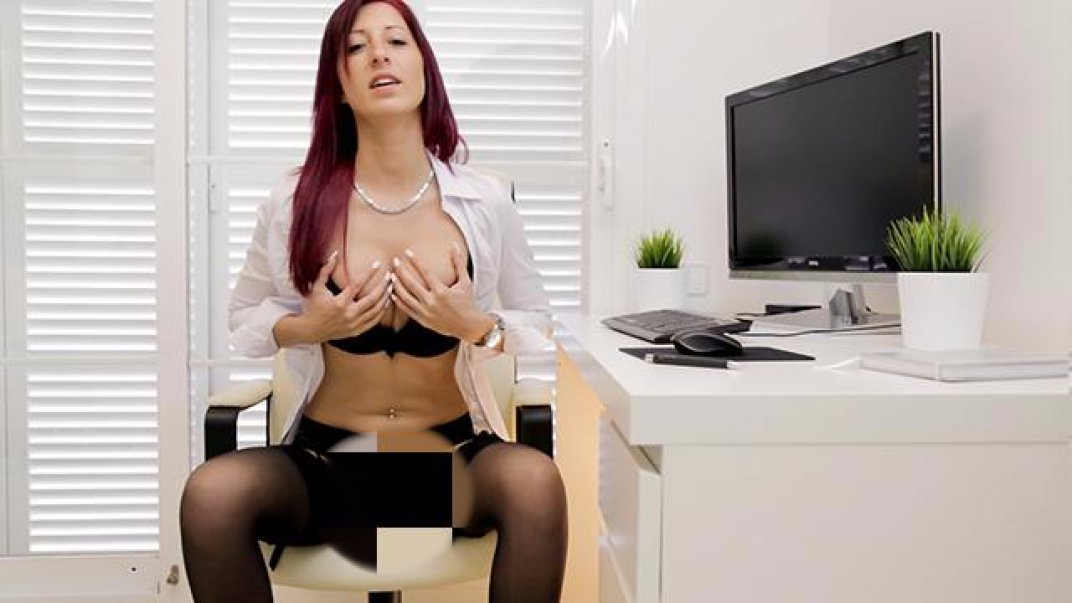 Horny office bitch wants your bag cream!